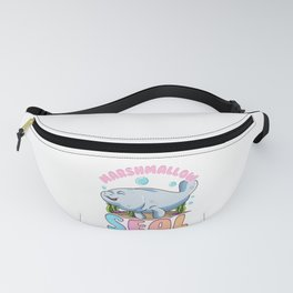 Cute & Funny Manatees The Marshmallow Seal Ocean Fanny Pack