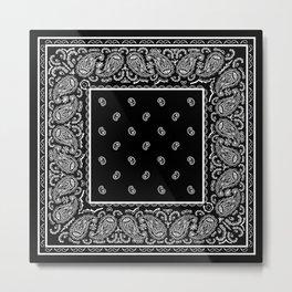 Classic Black Bandana Metal Print