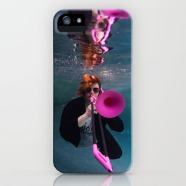 Girl with the Pink Trombone iPhone Case