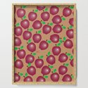 Fall Red Apple Pattern by icraftcafe