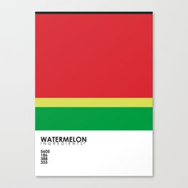 Pantone Fruit - Watermelon Canvas Print