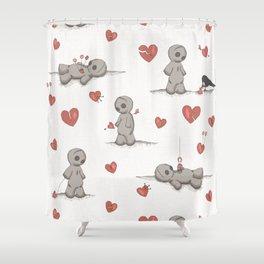 Broken hearted Voodoo Dolls Shower Curtain