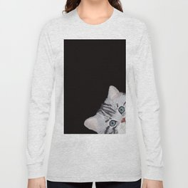 Hi! Sneaky Cat Long Sleeve T-shirt