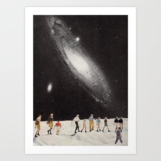 hiking under the stars Art Print