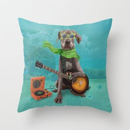 GROOVY GREAT DANE Throw Pillow