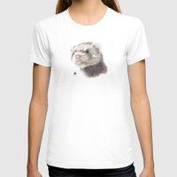ferret T-shirts featuring Ferret by Adam Dunt