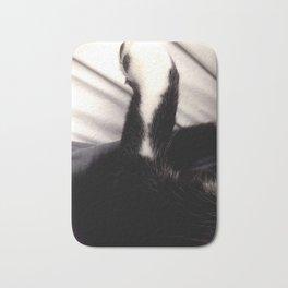 Black and white Cat Paw Bath Mat