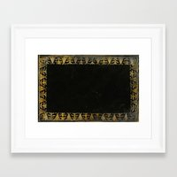 book cover Framed Art Prints featuring GREEN BOOK COVER by ED design for fun