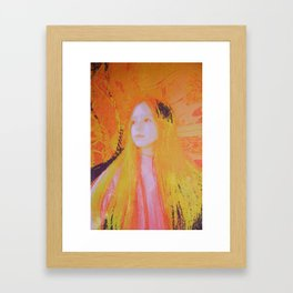 Intra Dimensional Light Being  Framed Art Print
