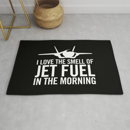 """F-35 Lightning II """"I love the smell of jet fuel in the morning"""" Rug"""