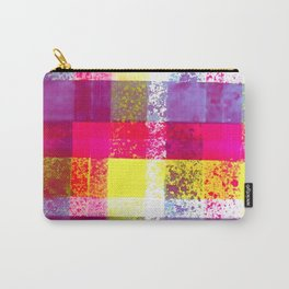 Colorful Paint Splash Plaid Hand Painted Print By James Thomas Ryan Carry-All Pouch