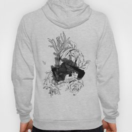ink flower Hoody