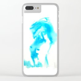 Model undressing Clear iPhone Case
