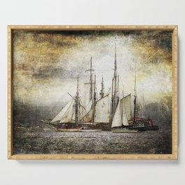 Sailing Ships Serving Tray