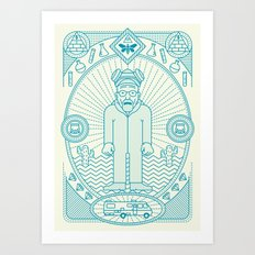 Crystal Blue Jam  Art Print