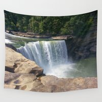 kentucky Wall Tapestries featuring Cumberland Falls, Kentucky by Linda Wooderson