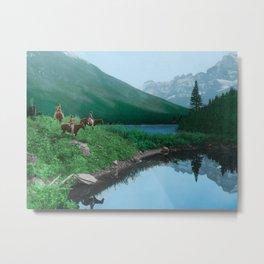 The Hunting Ground - Blackfoot American Indian Metal Print