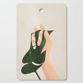 Monstera in Fingers Cutting Board