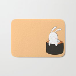 Bunny loves sushi Bath Mat