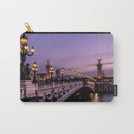 Sunset over Paris Bridge (Color) Carry-All Pouch
