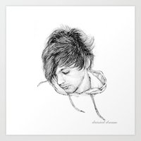 louis tomlinson Art Prints featuring Louis Tomlinson by Daisied Dream