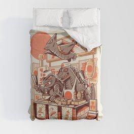 Kaiju street food Comforters