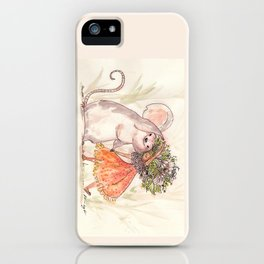 Thumbelina and the Mouse! iPhone Case