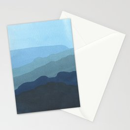 Landscape Blue Stationery Cards