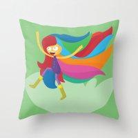 musa Throw Pillows featuring Musa by Juliana Rojas | Puchu