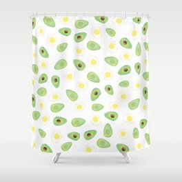 Avocados & Eggs Shower Curtain