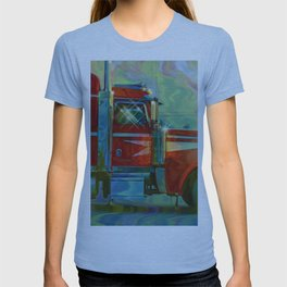The Trucker - Red Lorry Artwork T-shirt