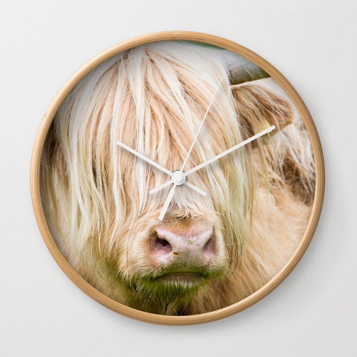 Scruffy Cow Wall Clock