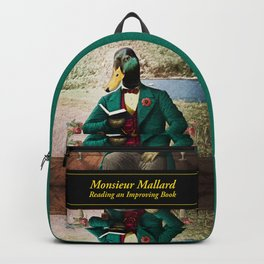 Monsieur Mallard Reading an Improving Book Backpack