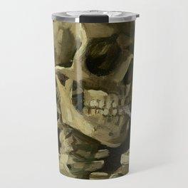 Skull Of A Skeleton With A Burning Cigarette - Vincent Van Gogh Travel Mug