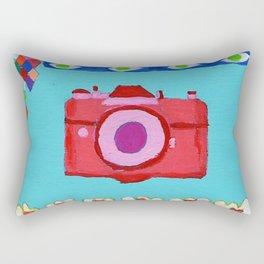 colorful camera Rectangular Pillow