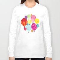 hot air balloons Long Sleeve T-shirts featuring Hot air balloons by Tat Georgieva