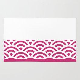 Rainbow Trim Bright Pink Gum Rug