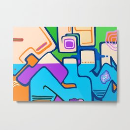 Touch of Graffiti No1 Metal Print