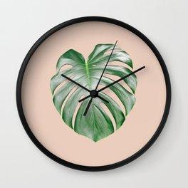 Monstera Dream #2 #tropical #decor #art #society6 Wall Clock