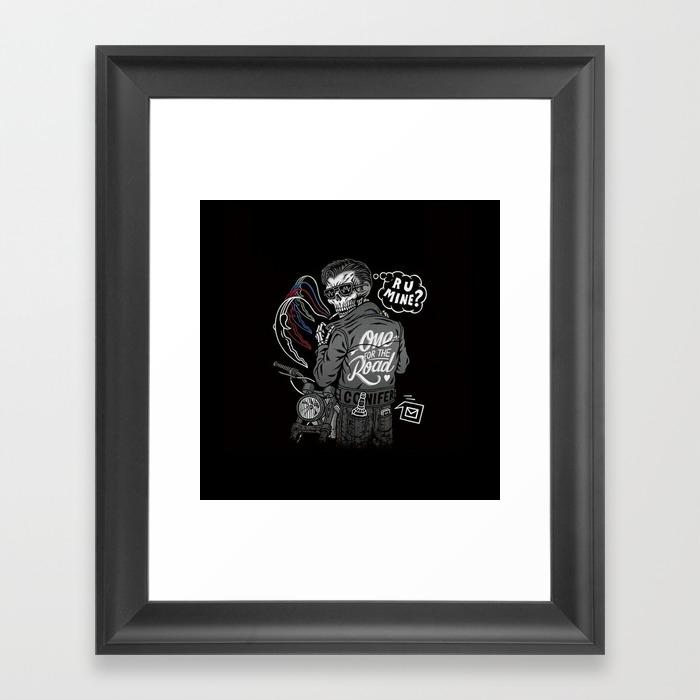 R U Mine? (Black BG) Framed Art Print