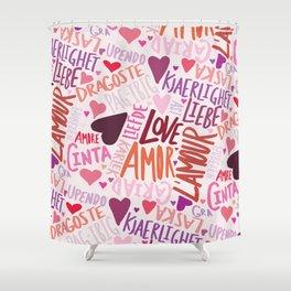 Love Languages Shower Curtain