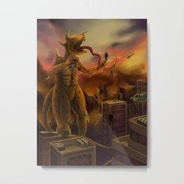 The Destruction of a Kaiju Metal Print