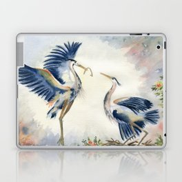 Great Blue Heron Couple Laptop & iPad Skin