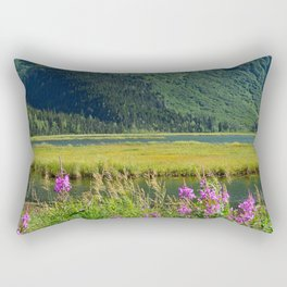 July at Tern Lake Rectangular Pillow