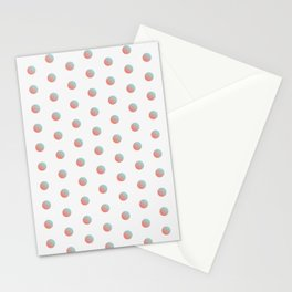 Peach Echo & Limpet Shell Polka Dots Pattern Stationery Cards