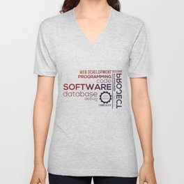 Programmer: Typography Programming - Color Unisex V-Neck