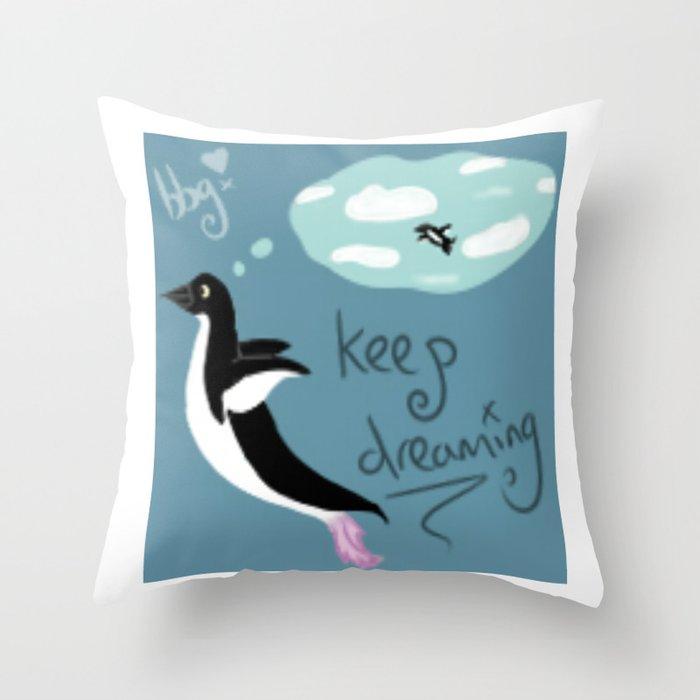 Keep on dreamin Throw Pillow