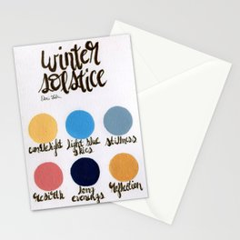 Winter Solstice - Palette  Stationery Cards