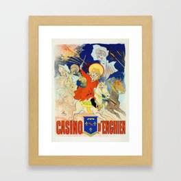 1890 Casino Enghien France Framed Art Print