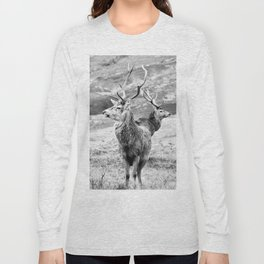 Stags - b/w Long Sleeve T-shirt